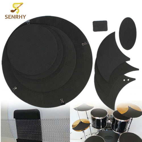 10Pcs/set Drum Silencer Rubber Practice Pads