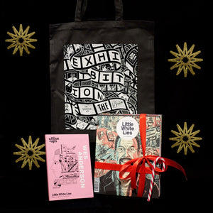Buy a Little White Lies subscription and any Close-Ups book and get a free tote bag