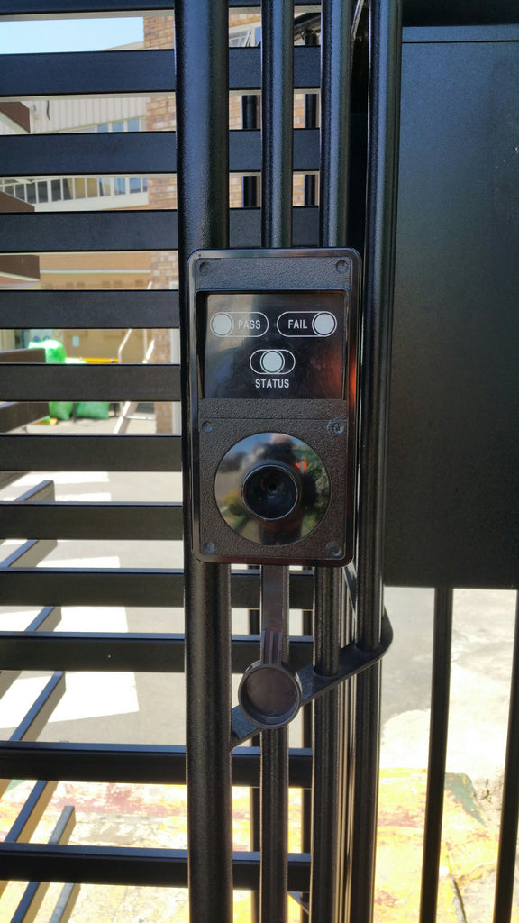 Alcoscan EBS010 Integrated with Firefly Time & Attendance fitted into a quarter-lock turnstile