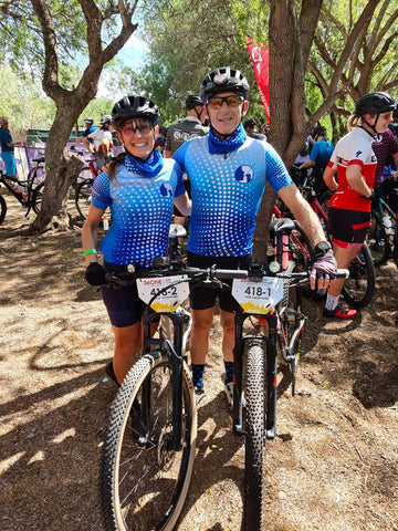 Congratulations to Kevin & Becky for completing #the36one MTB Challenge this weekend! Proudly wearing our #breathalyser cycle kit! 361kms, 36.1 hours, 361 degrees. #TheUltimateRace