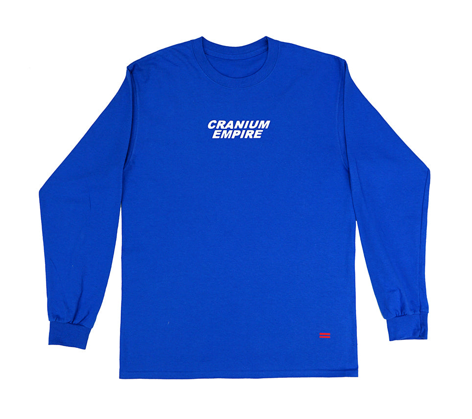 Blue Long Sleeve T-Shirt - Cranium Empire
