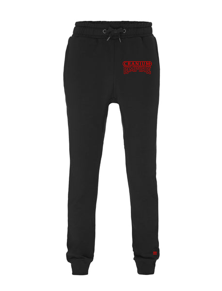 Red on Black Joggers