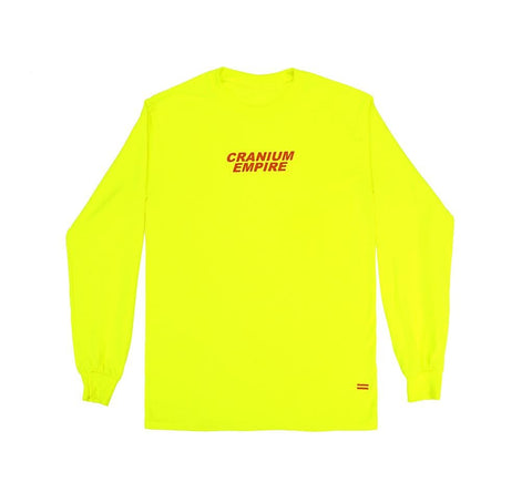 Neon Green Long Sleeve T-Shirt - Cranium Empire