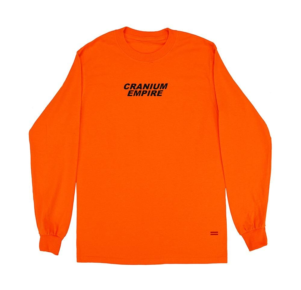 Orange Long Sleeve T-Shirt - Cranium Empire