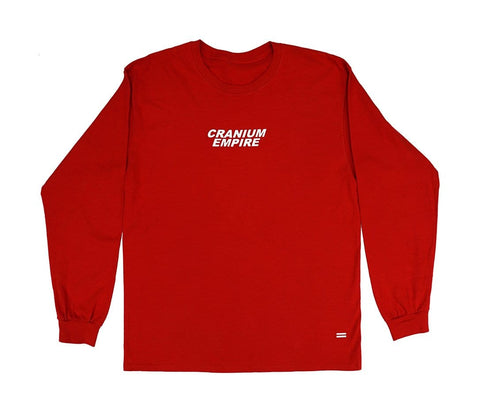 Red Long Sleeve T-Shirt - Cranium Empire