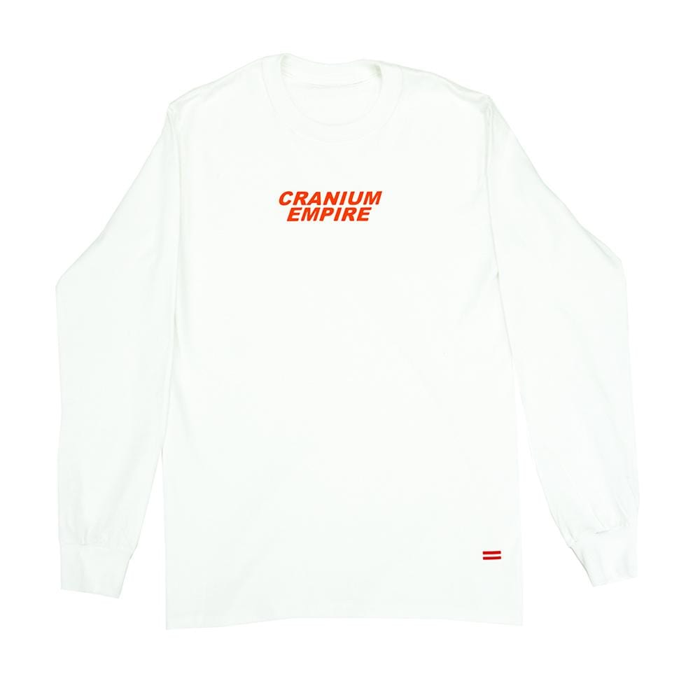 White Long Sleeve T-Shirt - Cranium Empire