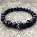 Skeleton Skull Black Lava