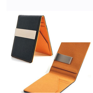 FREE Leather Slim Wallet Money Clip