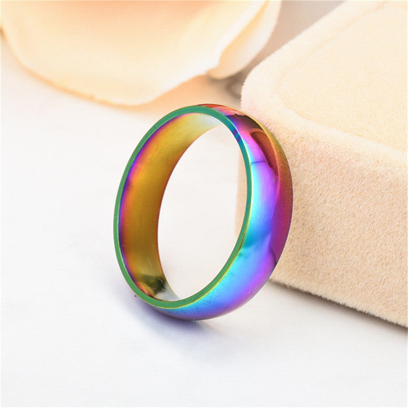 Rainbow Ring Titanium Steel