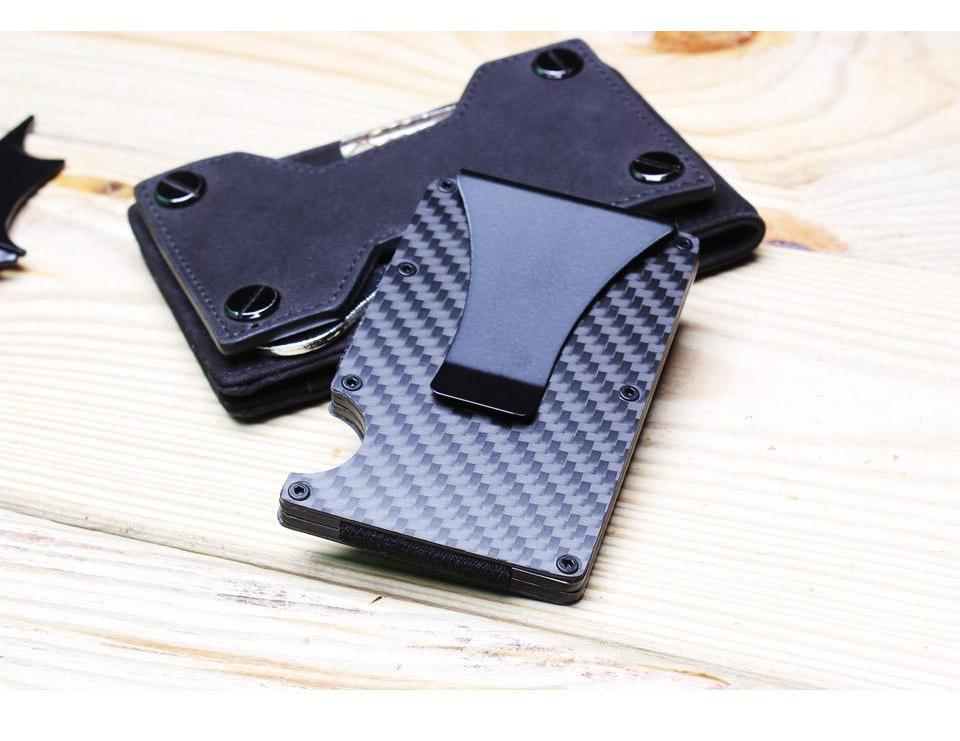 Carbon Fiber Slim Wallet Money Clip
