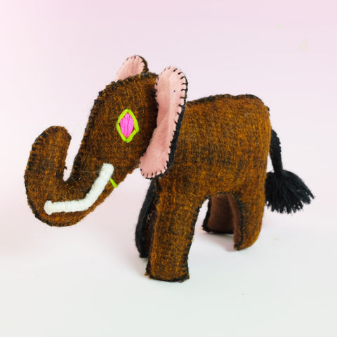 Handmade Toy – Brown Elephant