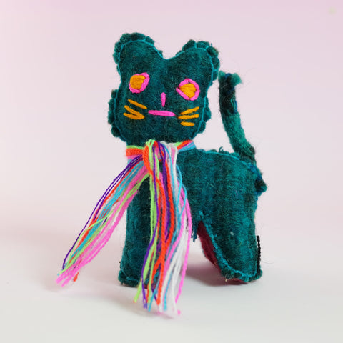 Handmade Toy – Green Cat