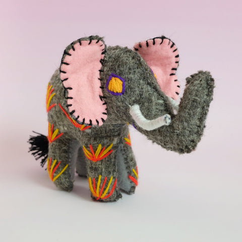 Handmade Toy – Grey Elephant