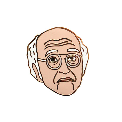 Larry David Lapel Pin