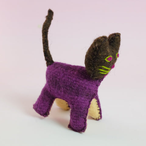 Handmade Toy – Purple Cat
