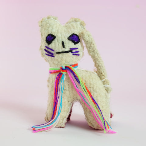 Handmade Toy – White Cat