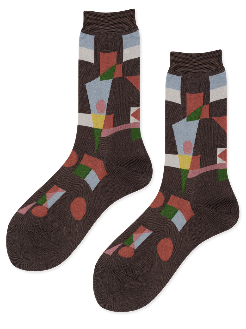 Moving Parts Crew Socks – Taupe