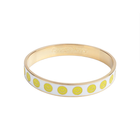 Smiley Enamel Bangle