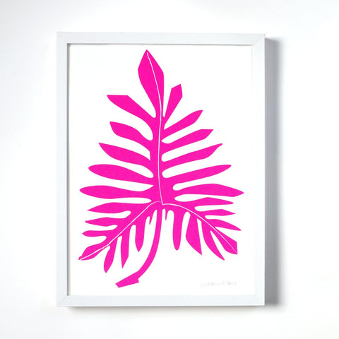 Neon Philodendron Print