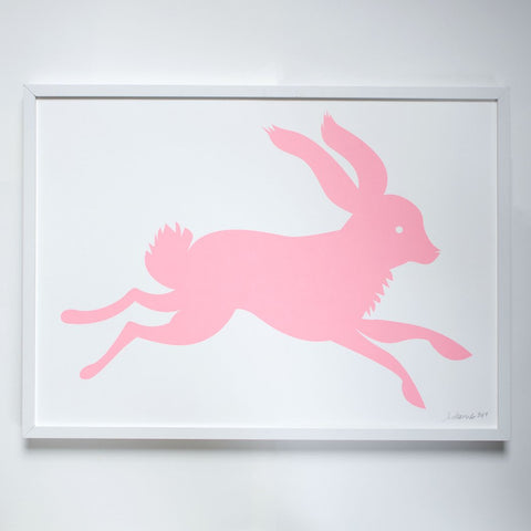 Large Pink Bunny Rabbit Poster