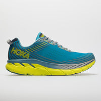 HOKA MENS CLIFTON 5 CARIBBEAN SEA / STORM BLUE