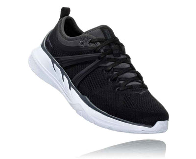 HOKA WOMENS TIVRA BLACK / DARK SHADOW