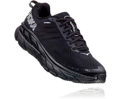 HOKA MENS CLIFTON 6 BLACK