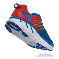HOKA MENS CLIFTON 6 MANDARIN RED / IMPERIAL BLUE