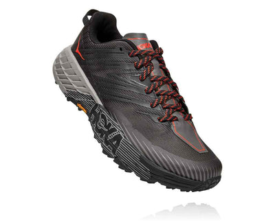 HOKA MENS SPEEDGOAT 4 DARK GREY / ANTHRACITE
