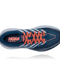 HOKA WOMENS SPEEDGOAT 4 MAJOLICA BLUE / HEATHER WIDE