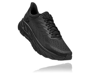 HOKA MENS CLIFTON 7 BLACK / BLACK