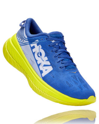 HOKA MENS CARBON X AMPARO BLUE / EVENING PRIMROSE