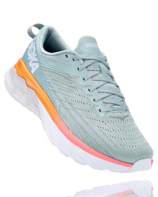 HOKA WOMENS ARAHI 4 BLUE HAZE / LUNAR ROCK WIDE