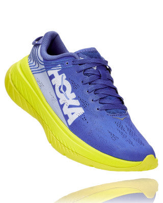 HOKA WOMENS CARBON X AMPARO BLUE / EVENING PRIMROSE
