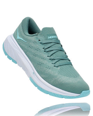 HOKA WOMENS CAVU 3 OIL BLUE / WHITE
