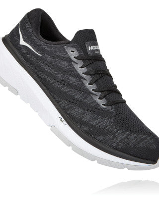 HOKA WOMENS CAVU 3 BLACK / WHITE