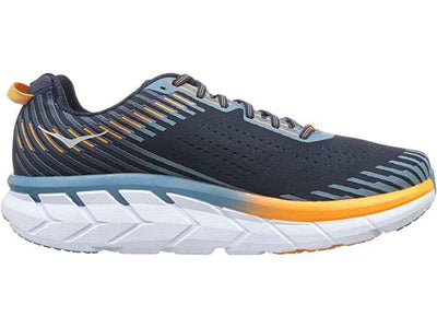 HOKA MENS CLIFTON 5 BLACK IRIS / STORM BLUE WIDE