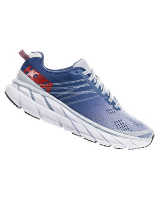 Hoka Women's Clifton 6 Wide - Plein Air / Midnight Blue