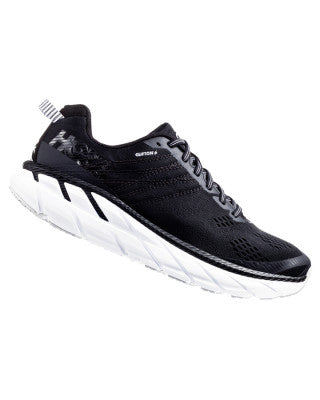 Hoka Women's Clifton 6 Wide - Black / White