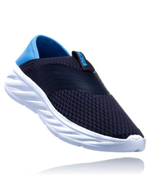 Hoka Men's Ora Recovery Shoe- Ebony/ Dresden Blue