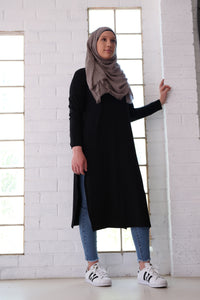 SPLIT TUNIC - BLACK