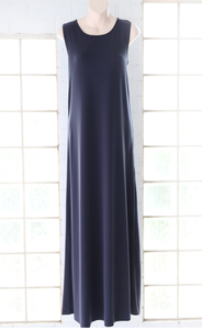 MAXI DRESS - SLEEVELESS NAVY