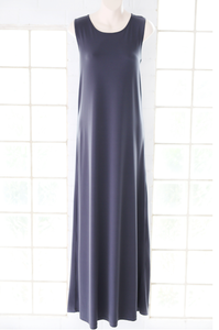 MAXI DRESS - SLEEVELESS SOOT GREY