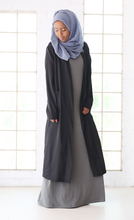 BREEZY CARDI COAT - BLACK