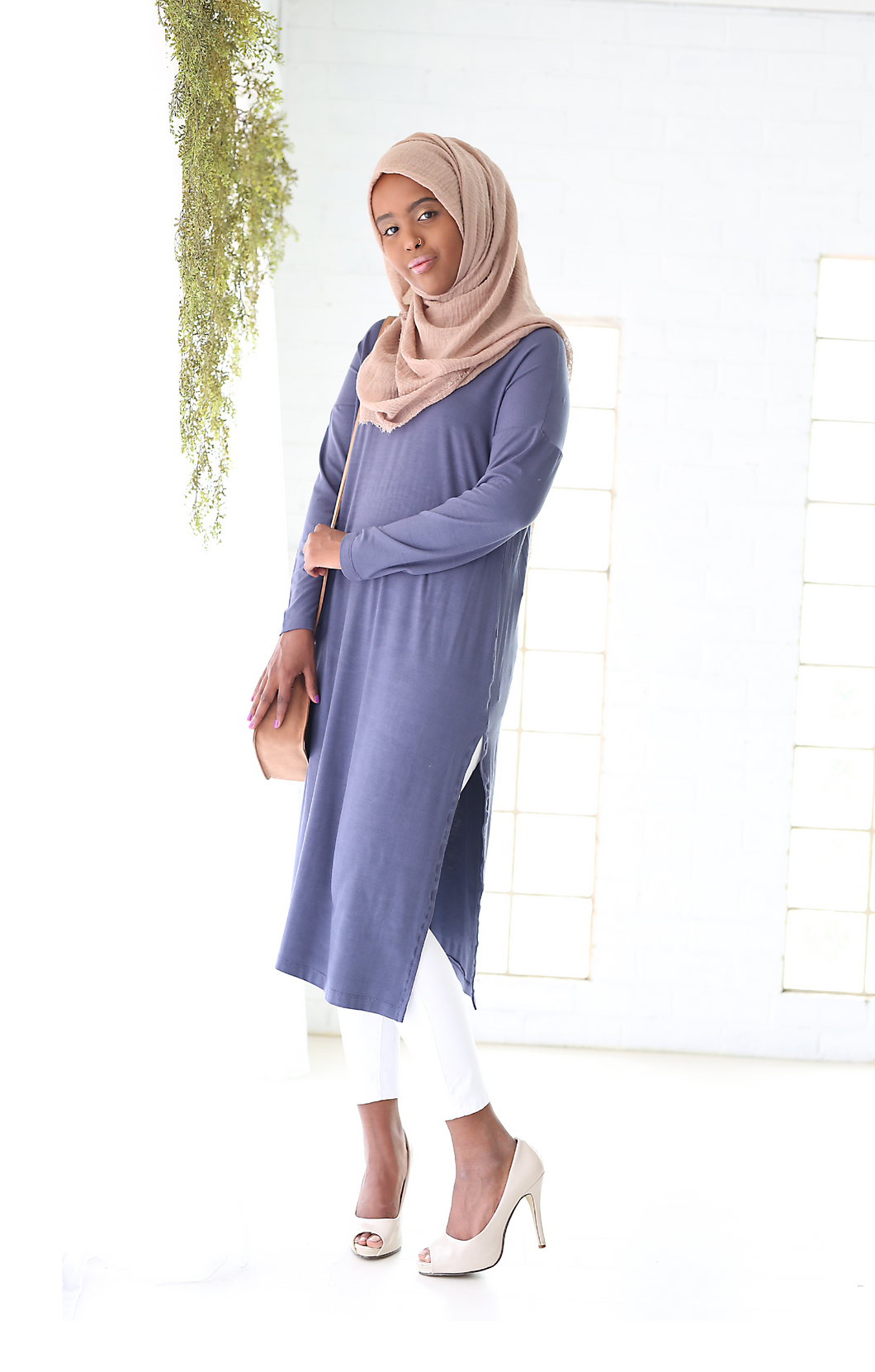 SPLIT TUNIC - DENIM BLUE