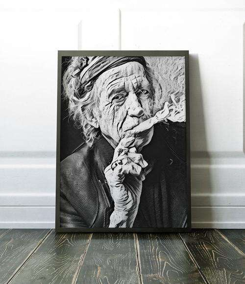 Rolling Stones Poster Keith Richards Art Painting - Orly's