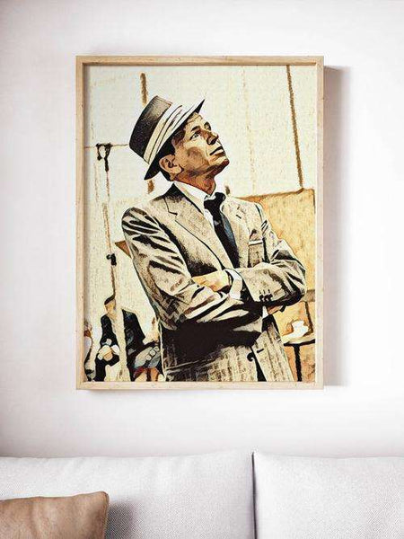 Frank Sinatra Poster Art Painting Print Canvas - Orly's