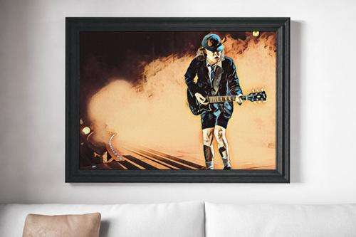 AC DC Painting Poster Art Painting Print Canvas - Orly's