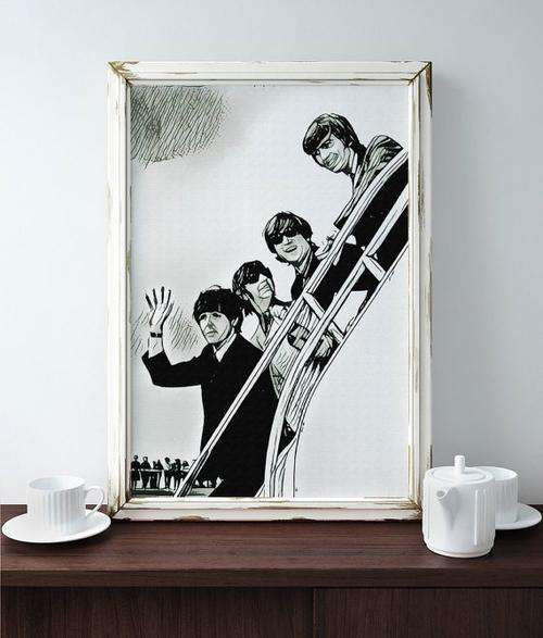 Beatles Poster Art Painting Print Canvas Print - Orly's
