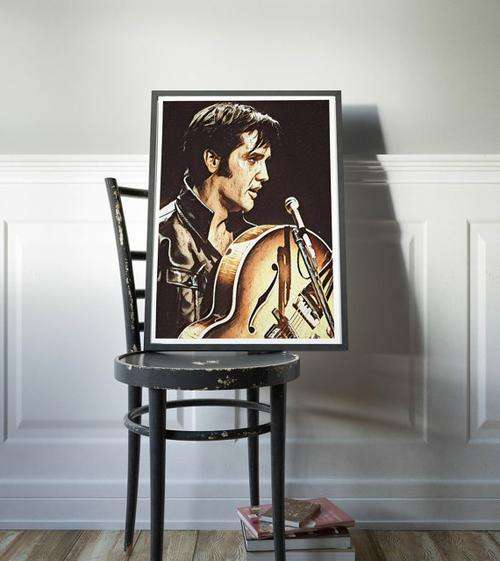 Elvis Presley Poster Art Painting Print Canvas - Orly's